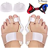 Bunion Corrector and Bunion Splint Bunion Care Kit for Bunion Relief, Realign Hallux Valgus, Bunion Toe Straighteners and Bunion Pads Forefoot Cushioning for Men and Women