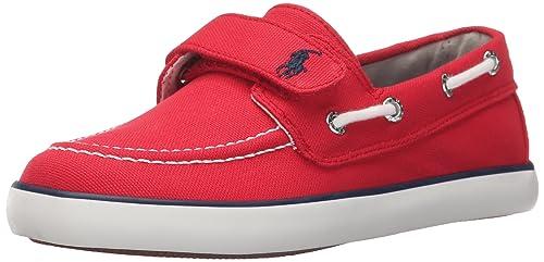 07776e03c7 Polo Ralph Lauren Kids Sander EZ R Canvas N PP Fashion Sneaker  (Toddler/Little Kid)