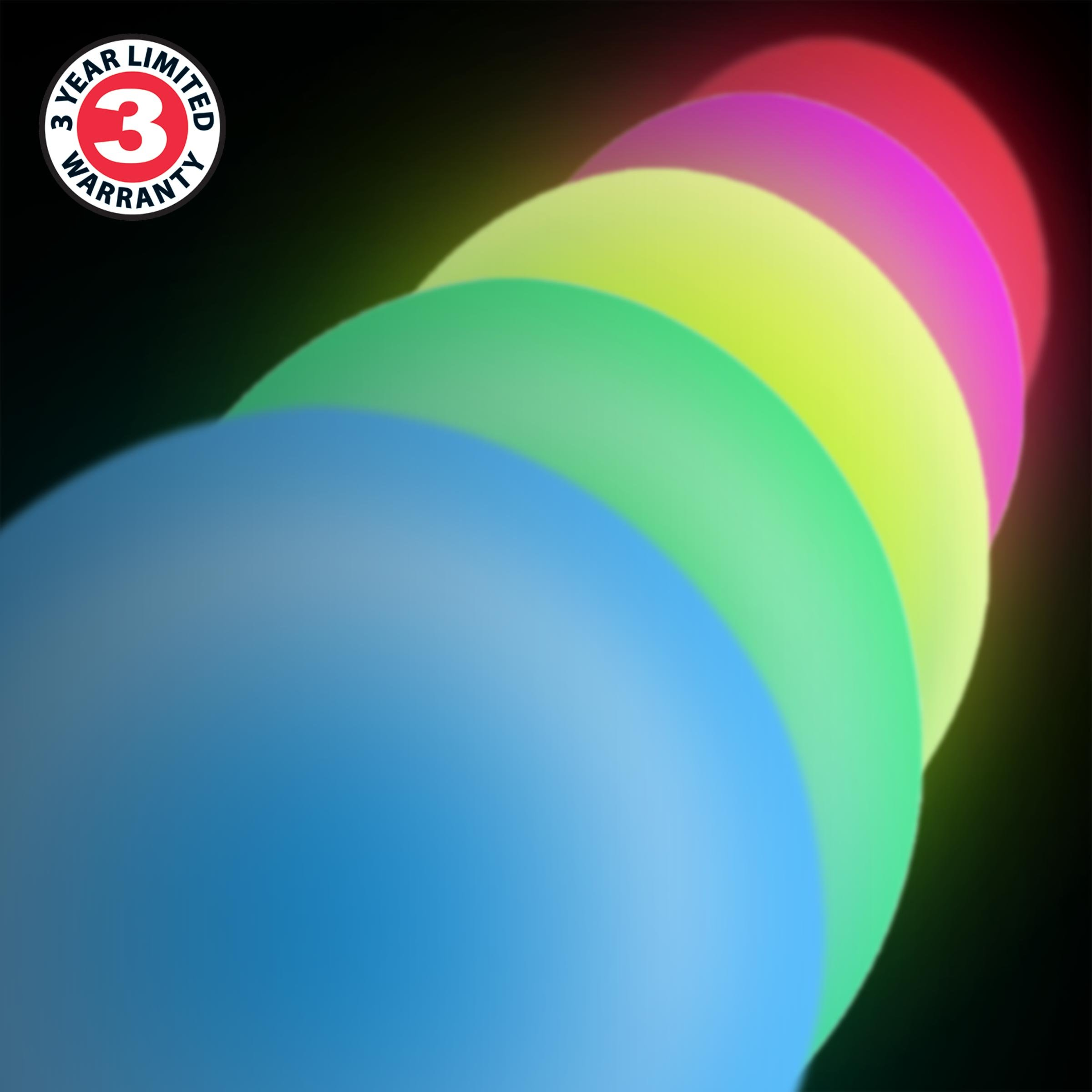 ENHANCE LED Globe Night Light Ambient Color Changing Premium Glass Mood Lamp with Remote Control - 7.9 inch 4 Lighting Modes & Battery or AC Adapter Power - Perfect for Children & Adults by ENHANCE (Image #6)