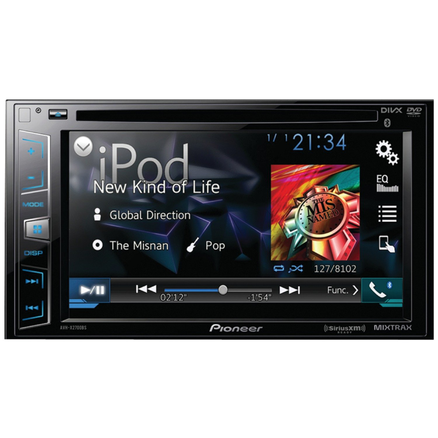 71IQPcOY7RL._SL1500_ amazon com pioneer avhx2700bs double din bluetooth sirius dvd  at soozxer.org