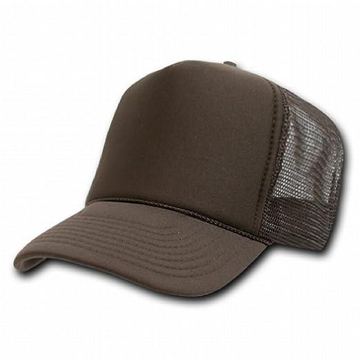 9323abb39fd38 BROWN MESH TRUCKER STYLE CAP HAT CAPS HATS ADJUSTABLE at Amazon ...
