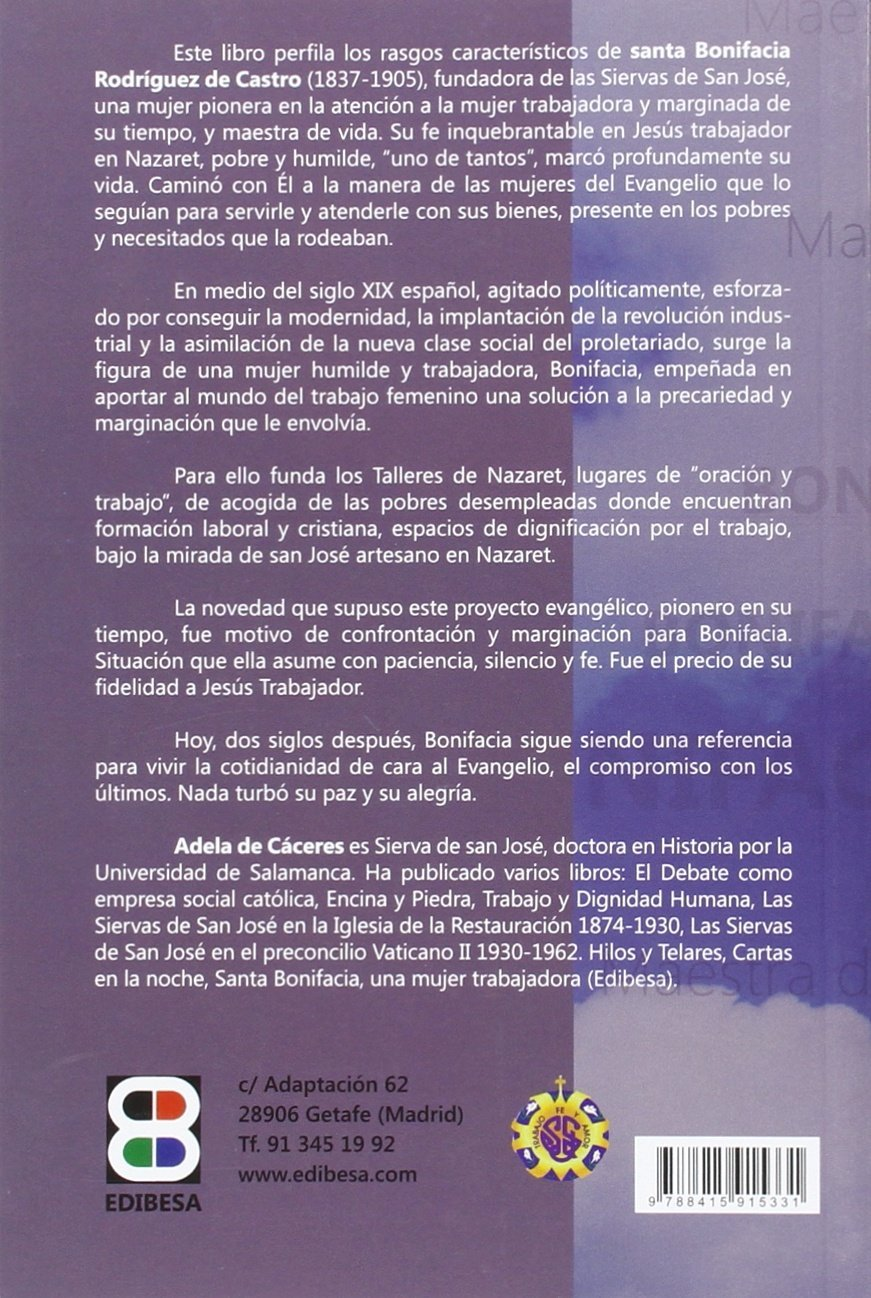 Santa Bonifacia: Maestra de vida (Vidas y semblanzas ...