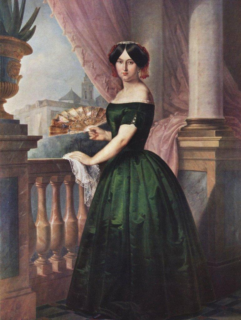 Lais Puzzle Antonio Maria Esquivel - Porträt der Doña Josefa García Solis 2000 Teile