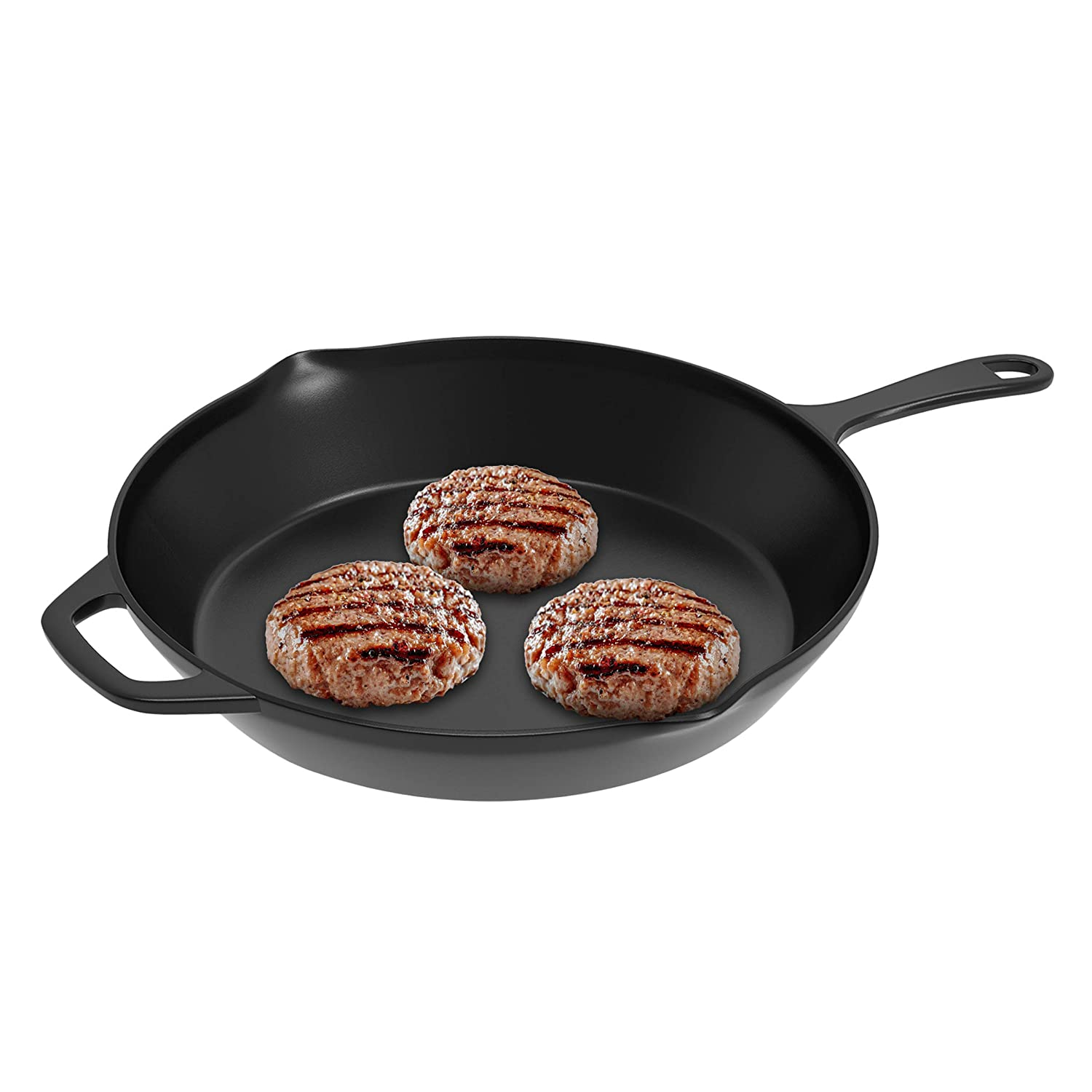 """Mini Pizza and More-Kitchen or Camping Cookware Meat Omelets Black Home-Complete HC-50038 Frying Pan-Cast Iron Pre-Seasoned Nonstick 8/"""" Skillet-Cook Eggs 8"""