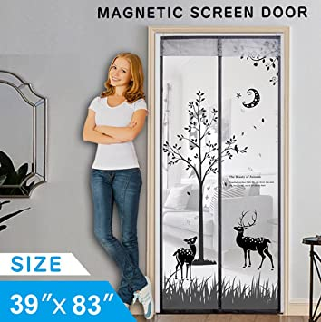 Magnetic Mesh Screen Door 2018 Upgraded Design Heavy Duty