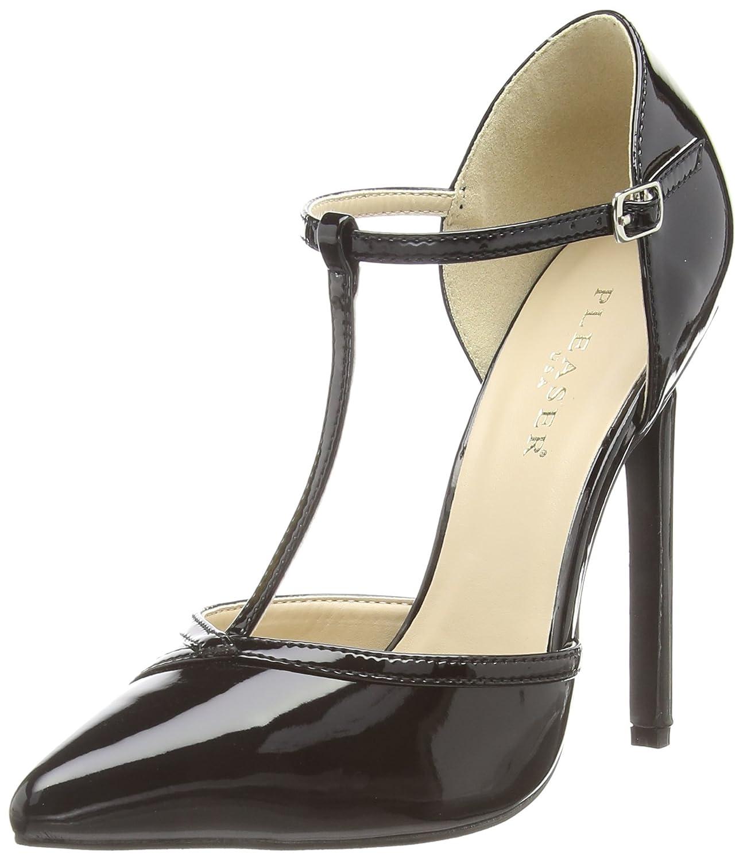 Pleaser Sexy-27 - Zapatos Mujer 41 EU|Negro (Negro)