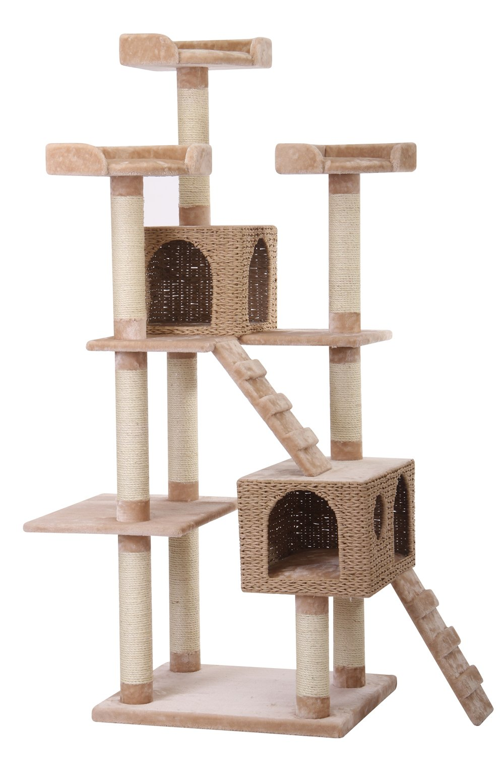 Towers - PetPals  Multi-Level Paper Rope, Fleece and Sisal Towers