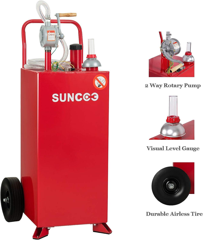 Amazon.com: SUNCOO 30 Gallon Gas Caddy con bomba, resistente ...