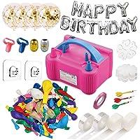 214 Pcs Balloon Pump Set- Electric Air Balloon Blower, Balloon Inflator 110V 600W Portable Dual Nozzles- Ballon Arch…