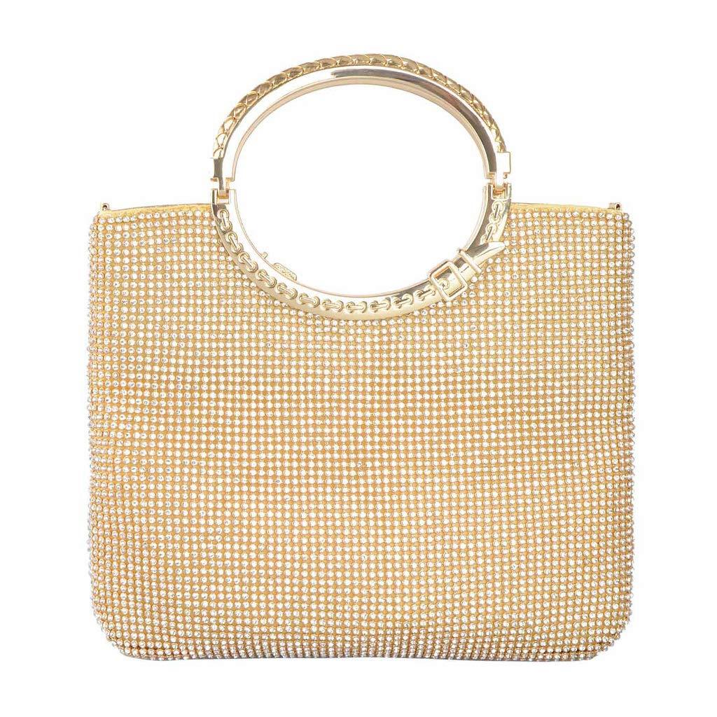 JUA PORROR Rhinestone Clutch Shoulder Bag Women Lady Evening Party Handbag Wallet Purse Gift