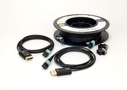 Amazon com: Detachable All Fiber Optic DisplayPort Set  80