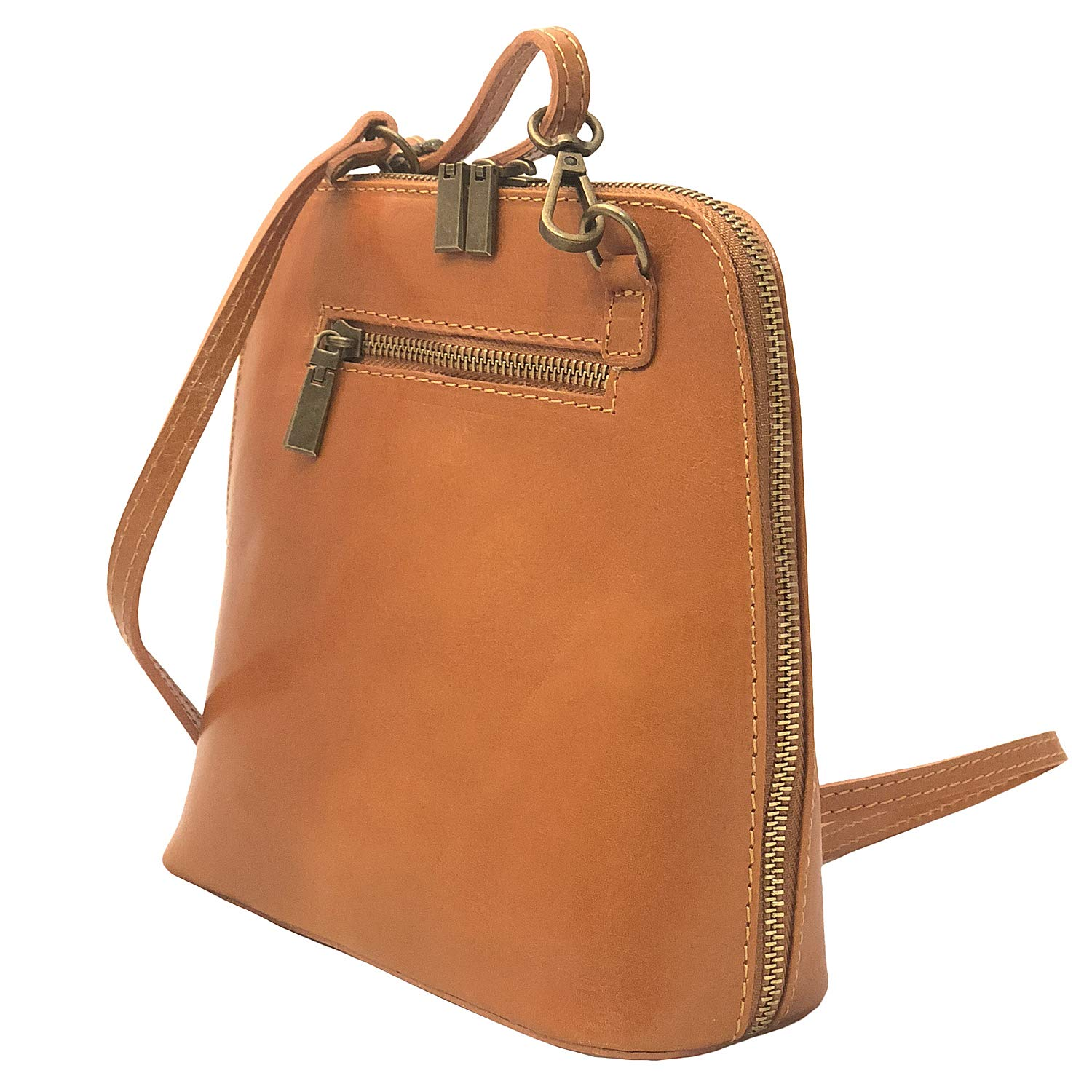 Messenger Bag by I Medici That are Imported from Italy Honey Brown Bag 298 L