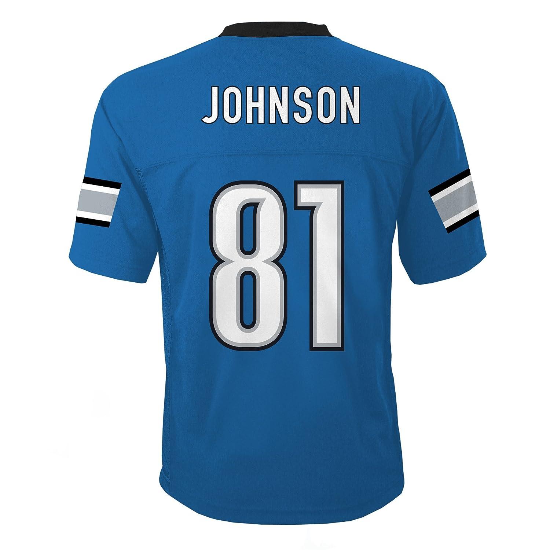 595410595 Amazon.com   NFL Youth Boys 8-20 MID-TIER JERSEY -TMC JOHNSON C Lion S Lion  Blue XL (18)   Sports Fan Jerseys   Sports   Outdoors
