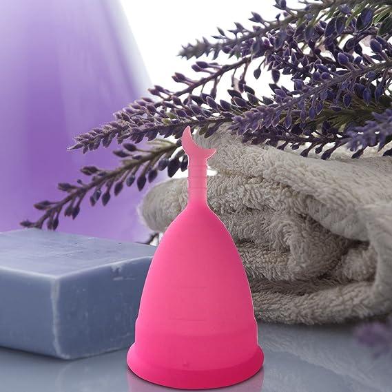Copa menstrual CozyCup SUNNY – Hecho de Silicona de Grado Médico (rosa, grande)