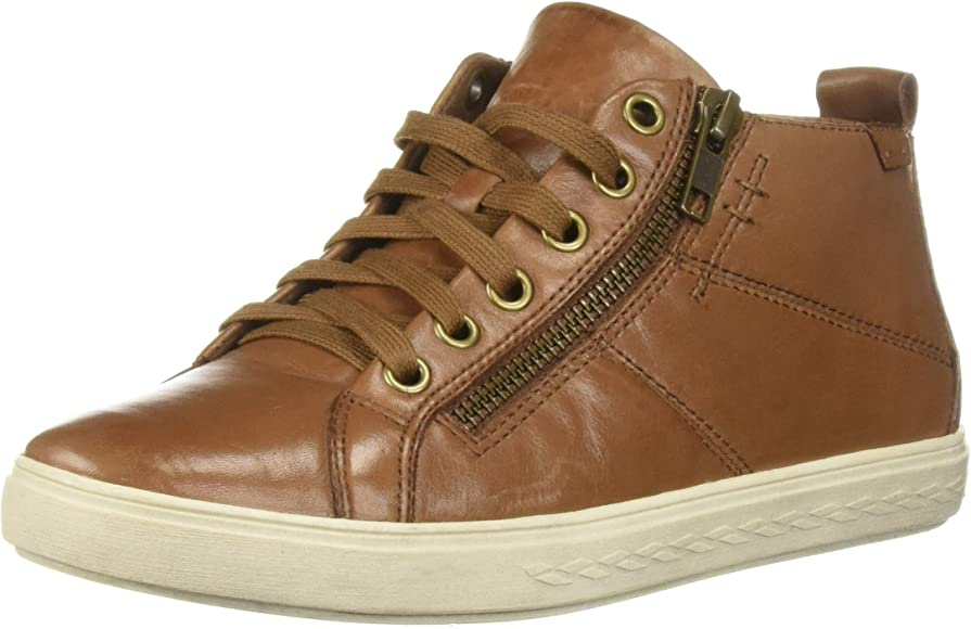 Willa High Top Sneaker, Almond Leather