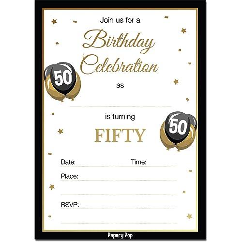 50th birthday party invitations amazon com