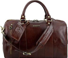 32ac647450 Tuscany Leather TL Voyager Borsa da viaggio in pelle - Misura piccola