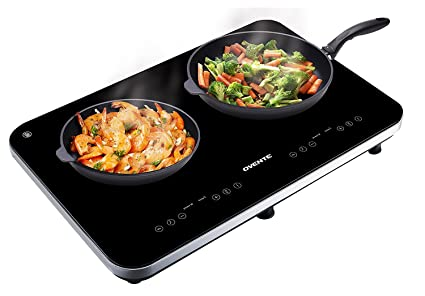 Ovente Induction Countertop Burner, Cool Touch Ceramic Glass Cooktop With Temperature  Control, Timer