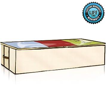 Amazon.com: ZIZ Home TM organizador bajo la cama, antimoho ...