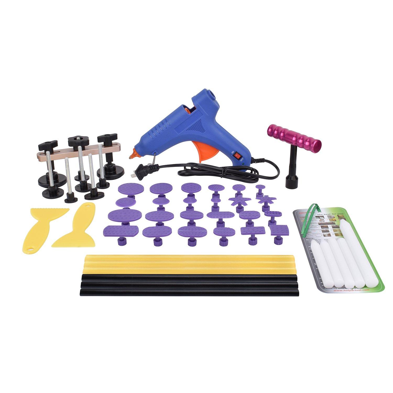 HOTPDR Car Dent Auto Body Tools Dent Puller Kit Paintless Dent Removal Tools Auto Dent Puller for Dent Repair (42 Pcs)