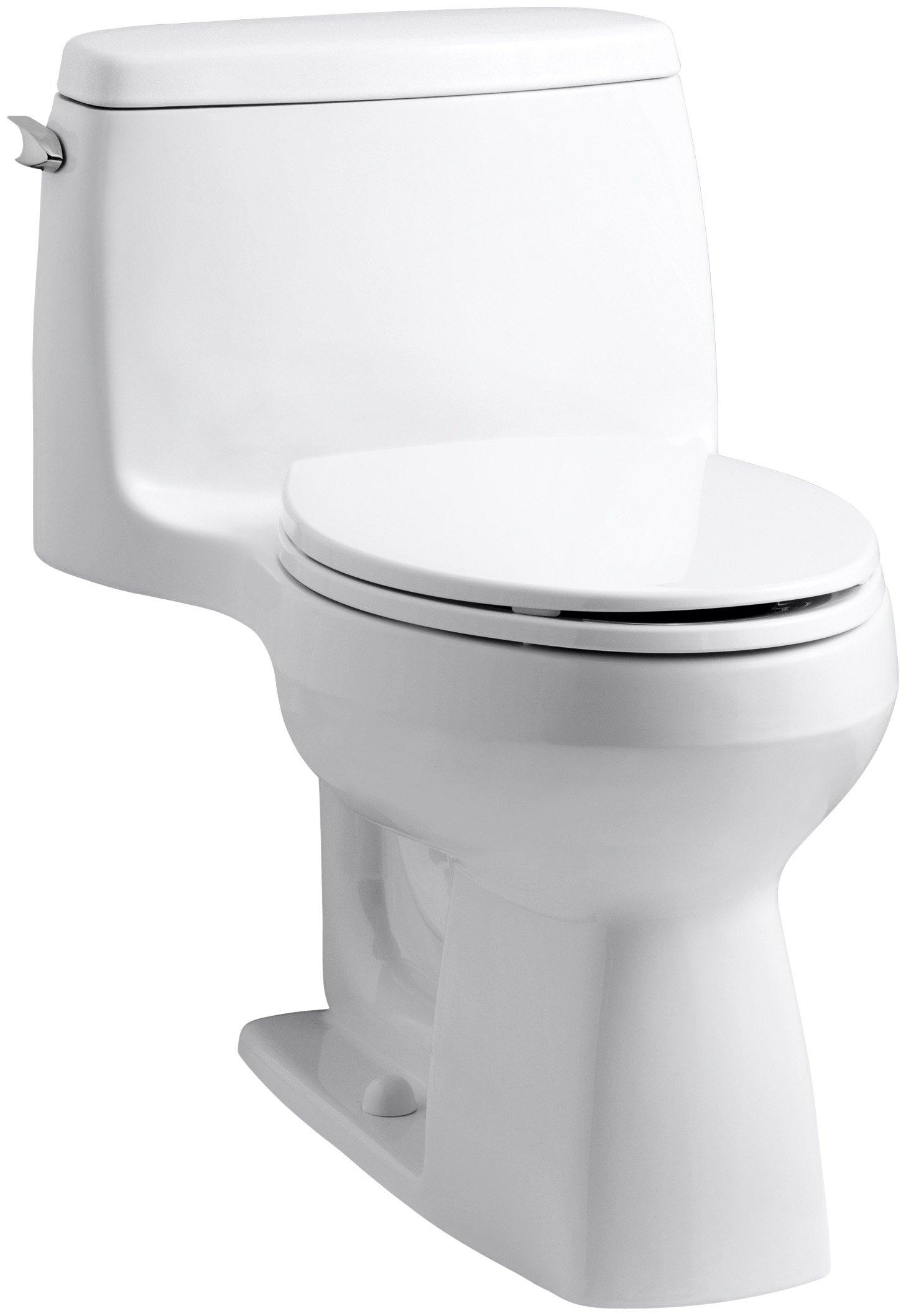Kohler 3811-0 Santa Rosa Comfort Height Elongated 1.6 GPF Toilet with AquaPiston Flush Technology and Left-Hand Trip Lever, White by Kohler