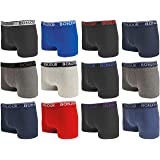 Bonjour  Hipster Boxers (12 Pack Premium Cotton Rich, Fitted Trunk Men's Underwear