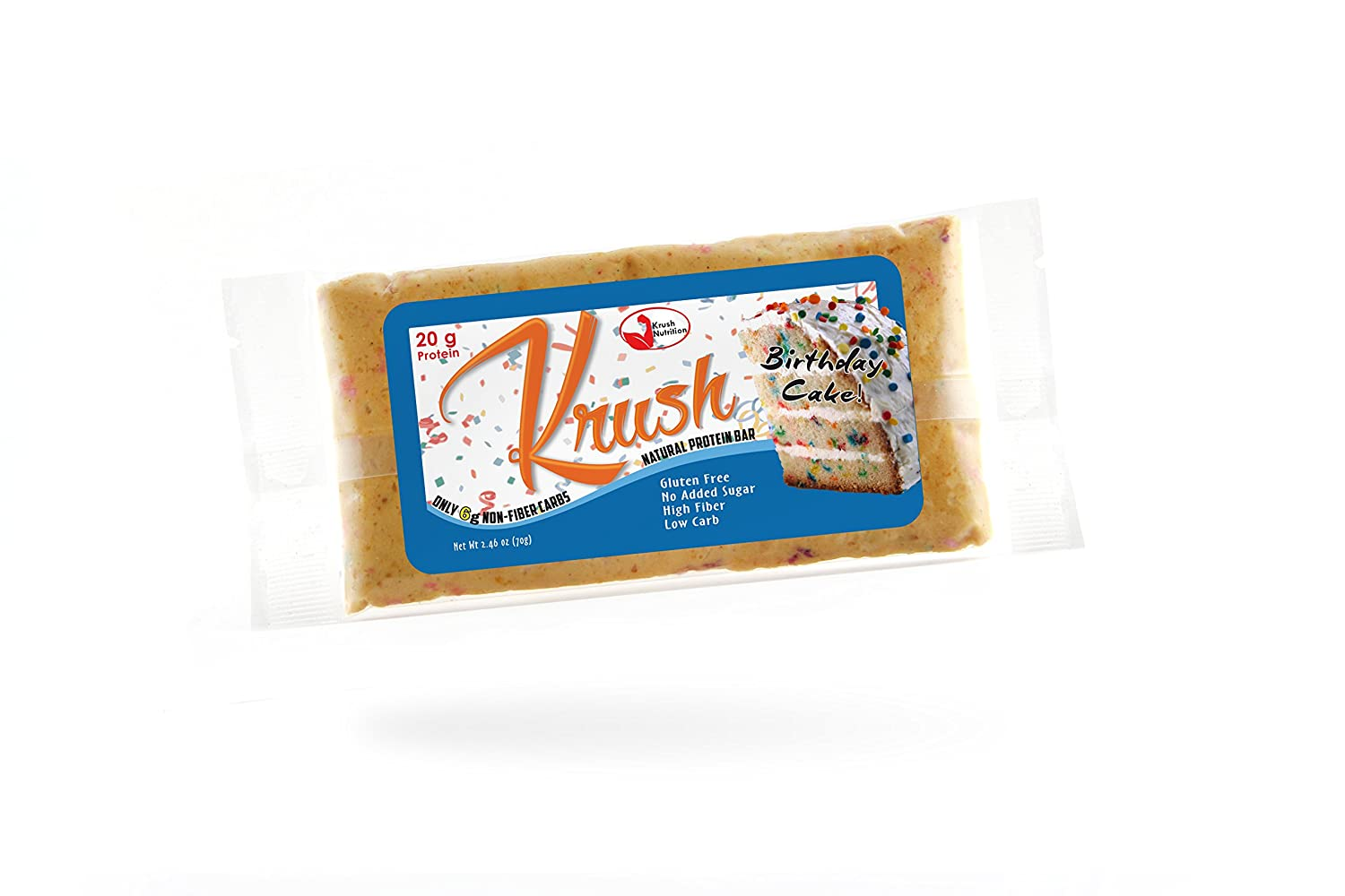 Amazon Krush Natural Protein Bars Pack Of 12 Birthday Cake Health Personal Care