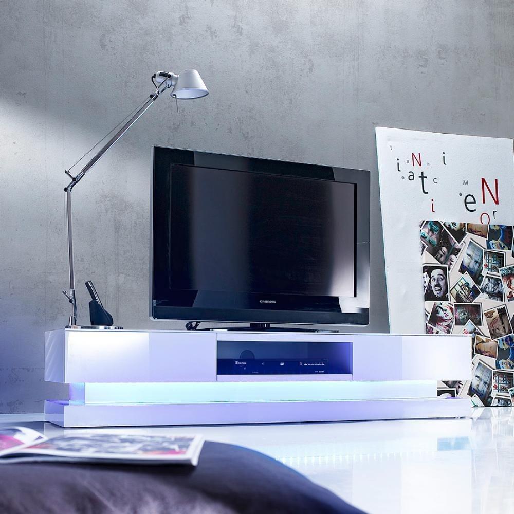 Wunderbar Lowboard Fernseher Foto Von Modanuvo Modern White High Gloss Tv Unit