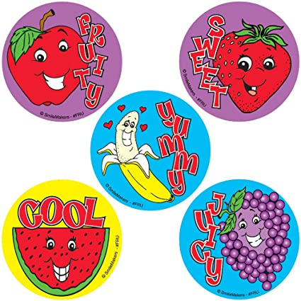 Fruity scratch n sniff stickers 75 pak