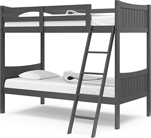 Thomasville Kids Newport Solid Hardwood Twin Bunk Bed Gray