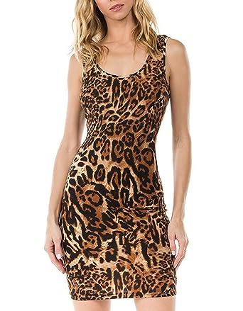2fe8b65ab7d Amazon.com: Melisse & Co. USA Sexy Leopard Cheetah Animal Print Gown ...