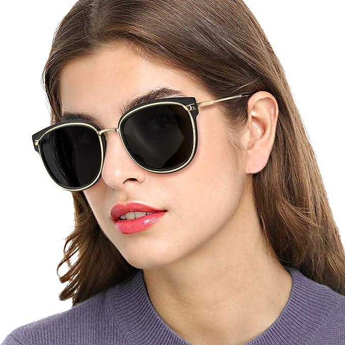 Womens Ladies Designer Polarized Sunglasses Oversized Driving Eyewear UV400