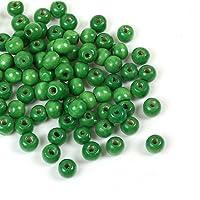 200cuentas de madera, color verde, 10x 9mm