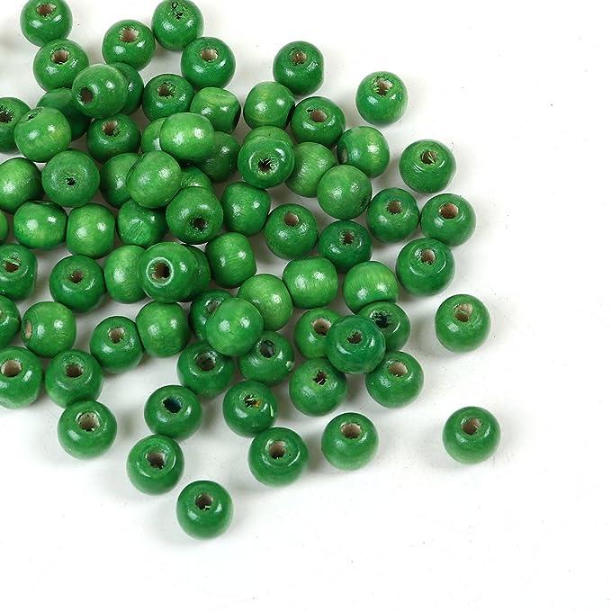 colore naturale 30/mm con foro rotondo da 5/mm Perline di legno per bricolage e da pitturare SiAura Material /® 20/pezzi