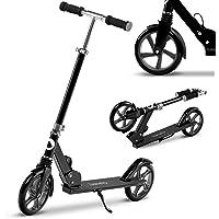 LIONELO Luca Patinete Urbano XXL hasta 100 kg, Scooter para niños, Grandes Ruedas 200 mm ShockResist Amortiguador…
