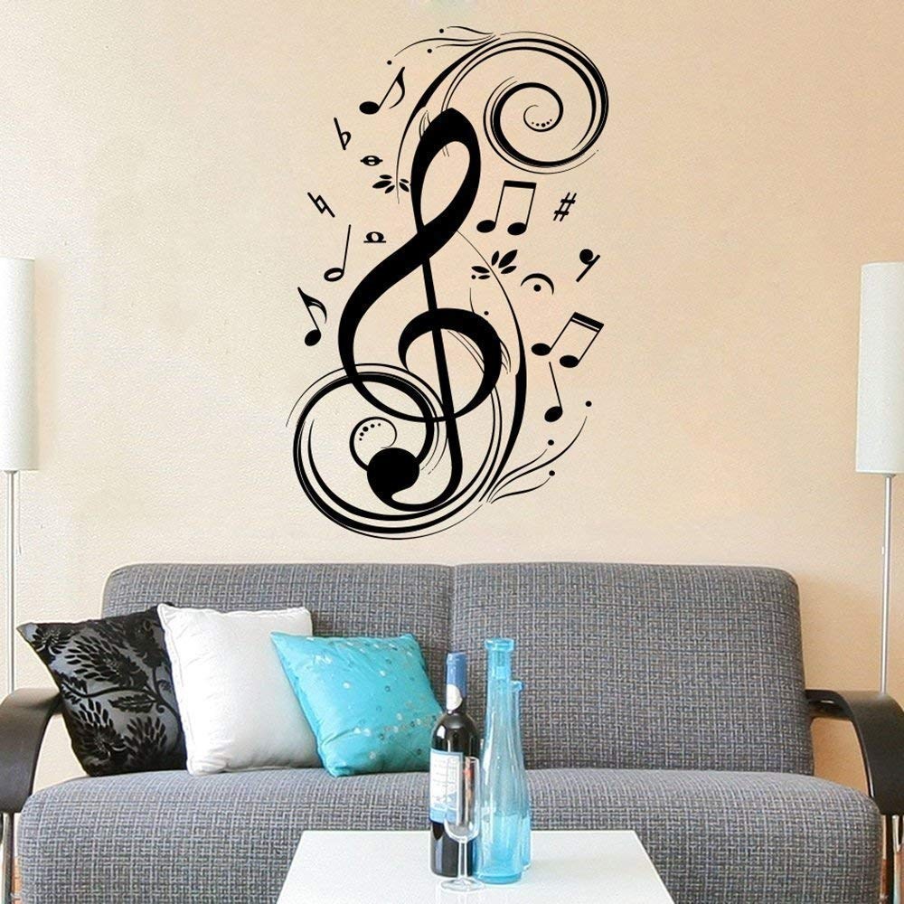 Amazon Com Music Note Wall Decal Treble Clef Floral Patterns