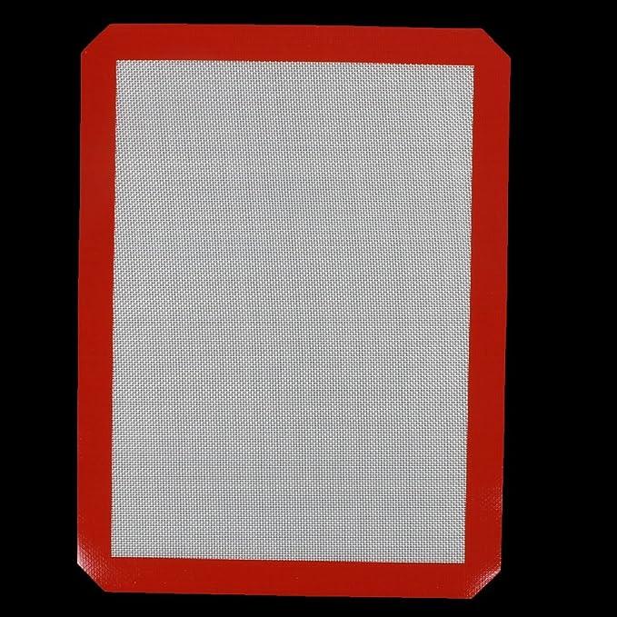 Amazon.com | Plaza de silicona en forma de eDealMax antiadherente bandeja de horno para hornear Macaron Mat Rojo Blanco: Coasters
