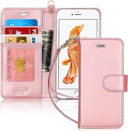 FYY Cover iPhone 6S Plus, Cover iPhone 6 Plus,Flip Custodia Portafoglio Caso Libro Pelle PU con Porta Carte e Chiusura Magnetica per Apple iPhone 6 ...