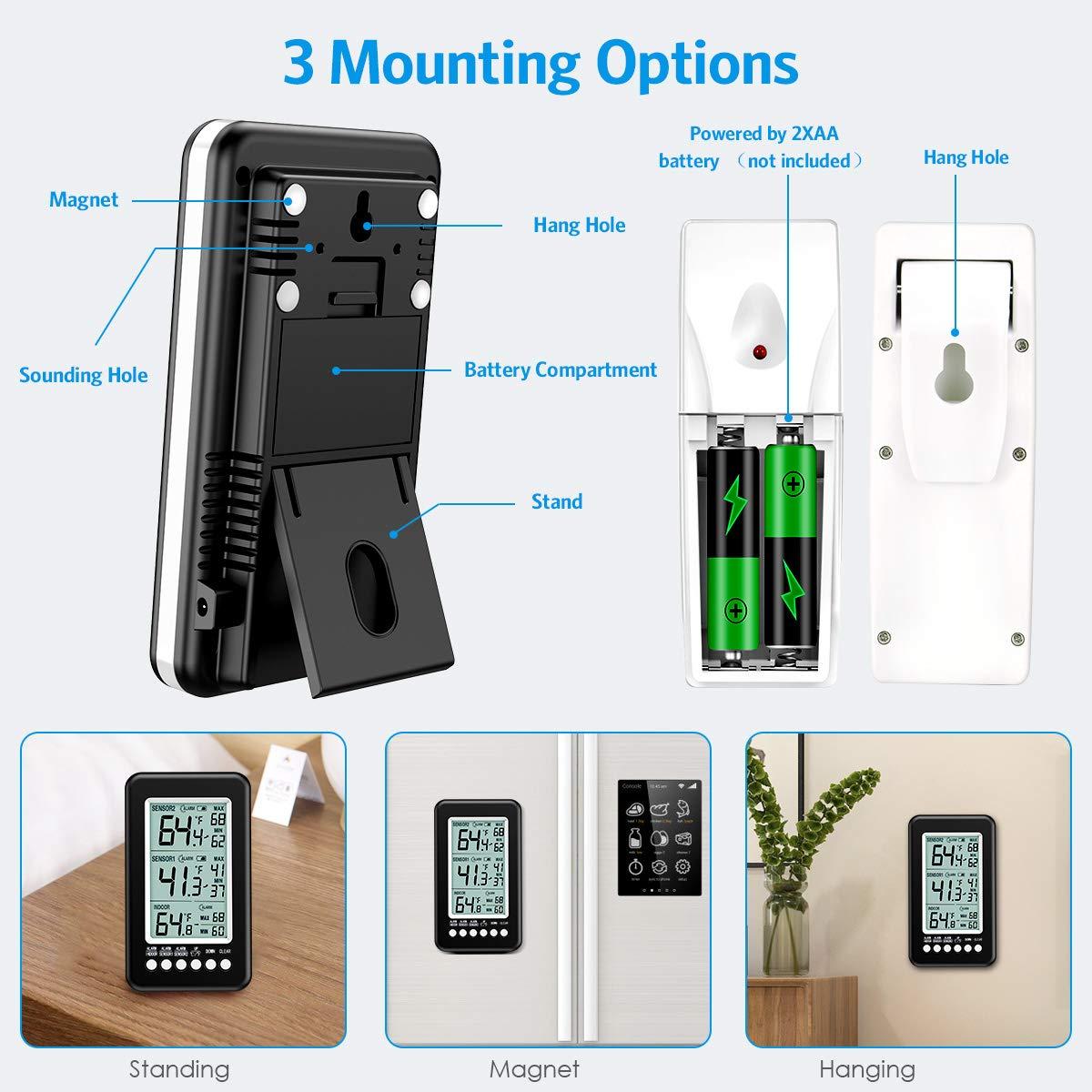 Termómetro de refrigerador Brifit (versión actualizada ...