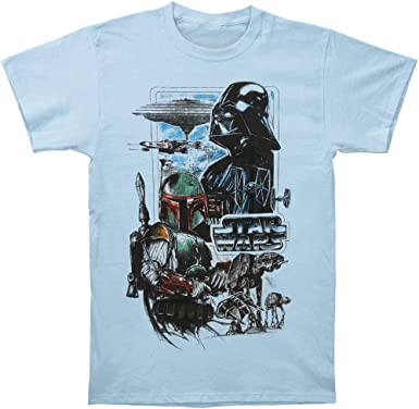 Star Wars - Hombre Empire Camiseta Azul Small: Amazon.es: Ropa y accesorios