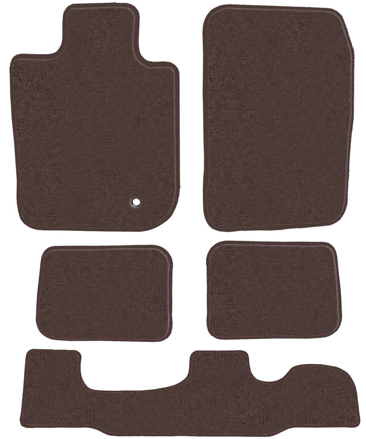 GGBAILEY D3542A-LSB-CH-BR Custom Fit Car Mats for 2006 2008 5 Piece Floor 2nd /& 3rd Row Passenger 2007 2009 2010 Jeep Commander Brown Driver