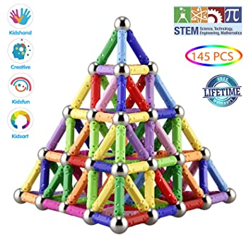 103Pcs Magnetic Building Blocks Sticks Construction Fancy Toys For Kids Gifts A+