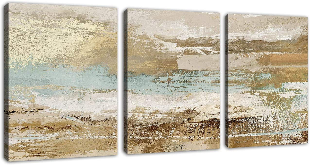 Modern Abstract Canvas Wall Art Vintage Abstract Prints Canvas Pictures Artwork Contemporary Wall Art for Bedroom Living Room Bathroom Decoration Framed Ready to Hang 12 x 16 x 3 Pieces