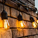 Amazon Price History for:Outdoor String Lights LED 48 Feet Advanced Weatherproof Design Connectable String of Light,15 Heavy Duty Hanging Socket -E26 for Porch Patio Garden Backyard