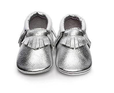 d3b65c2642cac Backbuy Bébé Filles Chaussures en Cuir Souple Chaussures premiers pas  Chaussons A Franges 0-24