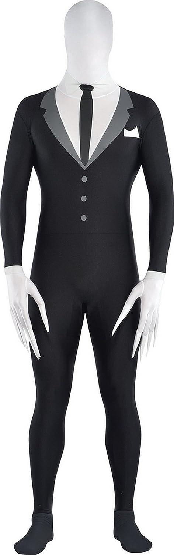Zauberclown Herren Karnevalskomplettkostüm Party Suit Smoking, Schwarz, Größe S