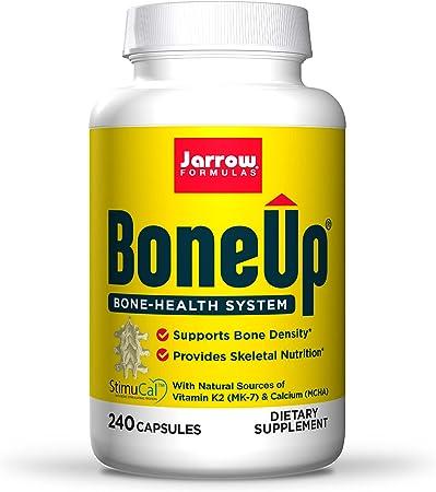 Jarrow Formulas BoneUp - 240 Capsules - Micronutrient Formula for Bone Health - Includes Natural Sources of Vitamin D3, Vitamin K2 (as MK-7) & Calcium - 120 Servings