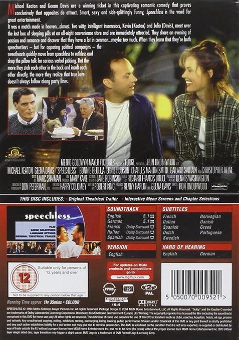 Speechless [Reino Unido] [DVD]: Amazon.es: Michael Keaton ...