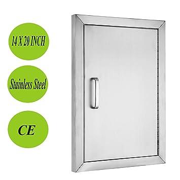 Mophorn BBQ Access Door 304 Stainless Steel BBQ Island Door Single Vertical  Door Right Hinged