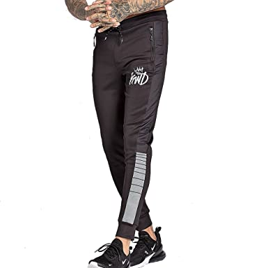 01272a13c4d83 Kings Will Dream Men's Kommack Perforated Reflective Tape Poly Joggers  Black (XSmall)